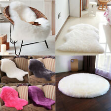 Faux Sheep Fur Soft Rugs Sheepskin Carpet Floor Chairs Sofa Cushions Kitchen Mat