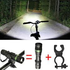 Police Lamp T6 LED 12000LM Flashlight Bike 18650/AAA Lamp Torch 360°Mount Clip#