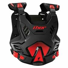 Thor Sentinel GP Chest Protector Roost Guard Black/Red Motocross Offroad Adult