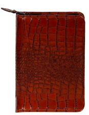 Scully Planner Crocodile Print Leather Weekly Zipper 5045Z-0
