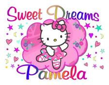 """HELLO KITTY Personalized PILLOWCASE """"SWEET DREAMS"""" Any NAME Super Soft"""