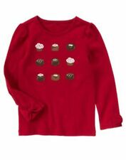NWT Gymboree Girls Sweet Treats Red Bon Bon Grid Top Size 4 & 5