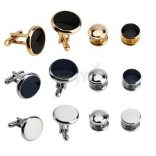 8PCS Men Jewelry Wedding Party Stainless Steel Shirt Cufflinks Cuff Links Studs