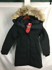 NEW CANADA GOOSE SHELBURNE PARKA BLACK WOMENS 3802L DOWN COYOTE RUFF AUTHENTIC