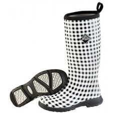 NEW MUCK BOOTS BREEZY TALL BLACK GINGHAM INSULATED RAIN BOOTS 7-10 WATERPROOF