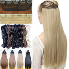 UK Seller Clip in Hair Extensions Ombre Dip Dye One Piece Wavy Curly Straight
