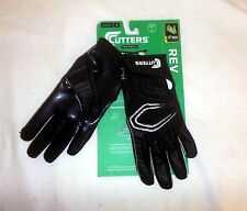 Cutters S250 REV Receiver Football Gloves NEW Black YOUTH Size Large