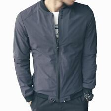 2016 New Bomber Jacket Men Fashion Solid Slim Fit Casual mens Jackets and Coats