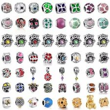 European 925 Crystal Charms Bead Silver Pendant Fit Sterling Bracelets Necklace
