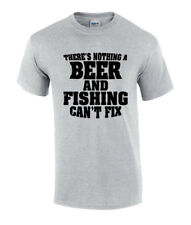 Funny Nothing Beer and Fishing Can't Fix Short Sleeve T-shirt