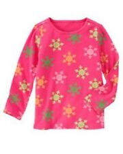 NWT Gymboree Girls Cheery All The Way Pink SnowflakeTop Size 3 5