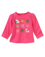NWT Gymboree Girls Cheery All The Way Pink Top Size 3-6M 12-18M 18-24M & 2T
