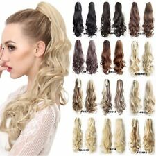 UK THICK 150G Newcolor Jaw Claw On Ponytail Clip In Hair Extensions Wavy Curly L