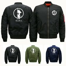 Outerwear Dragon Ball Z Bomber Jacket Warm Air Force Military MA-1 Tactical Coat