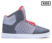 Supra Kids' Atom Shoe - Grey/Charcoal/Red-White