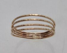 SZ 6 14K GOLD-FILLED QUADRUPLE BAND THUMB RING
