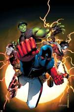 The Young Avengers No.1 Cover: Patriot, Hulkling, Wiccan, Iron Lad, As... Poster