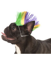 Mardi Gras Pet Punk Rock Spiked Mohawk Dog Cat Costume Wig