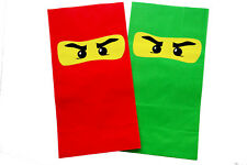Deluxe LEGO NINJAGO Ninja Eye Sticker Loot/Party Bags/Favours - 4 Colours - UK