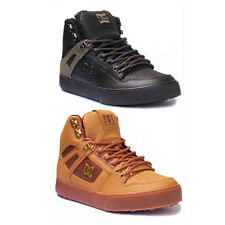 DC Shoes Spartan WC High Men Nubuck Leather Wheat Hi Top Skate Shoes