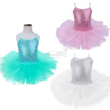 Girl Kid Baby Ballet Tutu Dress Leotard Dancewear Dancer Costume Skirt Gymnastic