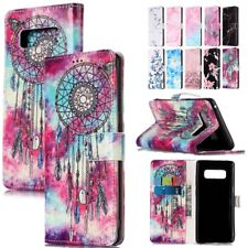 Luxury Patterned Leather Flip Cover Wallet Card Case Stand For Samsung Note 8
