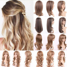 Fashion Curly Hair Full Wig With Brown Blonde Halloween Costume Synthetic Hair