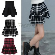 Kids Girl High-waisted Warm Pleated Knitted Mini Short Skirt Party Dance SZ 2-12
