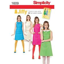 SIMPLICITY SEWING PATTERN MISSES JIFFY SIMPLE TO SEW VINTAGE 1960s DRESS 1609