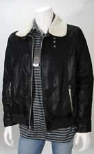 Point Blanc Men's Black Faux Suede Shearing Quilted Lining Coat Sz M, L NWT