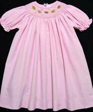 CARRIAGE BOUTIQUE 24M BISHOP SMOCKED PINK DRESS W/EMBROIDERED FALL LEAVES~NWT'S