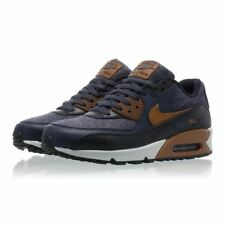 Nike AIR MAX 90 PREMIUM Blue/ Brown Size 7 8 9 10 11 12 Mens Shoes 700155-404