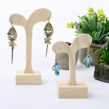Natural Wood Jewellery Display Stand Wood Earring Holder Handmade 2 Sizes