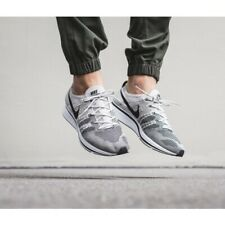 Nike FLYKNIT TRAINER Pale Grey/Black-White Size 5 6 7 8 9 10 11 12 Mens Shoes AH