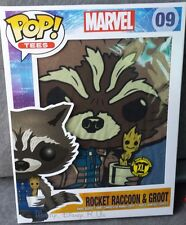 New Marvel Pop Tees Guardians Of The Galaxy Rocket Raccoon & Groot #09 M-L