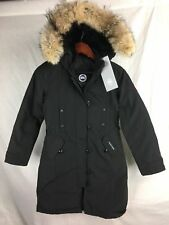 NEW CANADA GOOSE KENSINGTON PARKA BLACK XS S WOMENS 2506L DOWN COYOTE AUTHENTIC