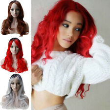 RED Ladies Wig Long Curly Straight Wavy Fashion Party Haloween fancy Dress Kl9