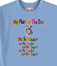 Dog T Shirt - My Plan For The Day Schnauzer - Adopt Rescue Animal Men Women # 9