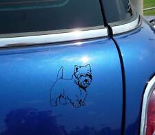 DETAILED WESTIE WEST HIGHLAND WHITE TERRIER DOG GRAPHIC DECAL STICKER CAR WALL