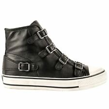 Ash Virgin Black Womens Leather High Top Sneaker Trainers