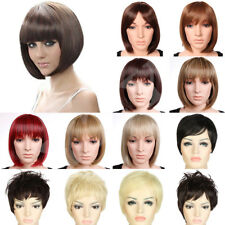 New Ladies Womens Fancy Dress Wig Bob Style Full Short Hair Wig Party Cosplay #d