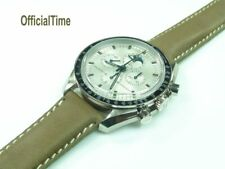 OfficialTime 20/18mm Genuine Bull Leather Band / Strap fit OMEGA watch