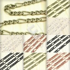 2m 6.56feet Open Link Unfinished Curb Chains Bulk Necklace Jewelry Findings HC