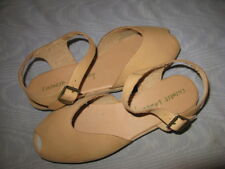 "CHINESE LAUNDRY TAN ""ELKIE"" ANKLE STRAP PEEP TOE SANDALS, SZ 6 ½ M, NEW"