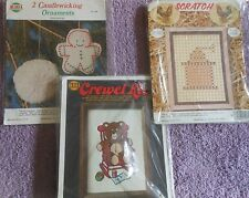 CHOOSE ONE: NEEDLEMAGIC NMI CREWEL/CANDLEWICKING/SCRATCH KITS Pillows/Pictures