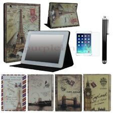 For iPad 2 / 3 / 4 Retro Book Design Smart Folio Leather Case Cover With Stand