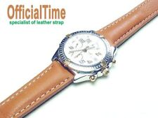 OfficialTime 20/18mm Italian Bull Leather Strap / Band fits BREITLING Watch -r