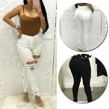 High Waisted Jeggings Womens Pencil Pants Skinny Trousers Stretchy
