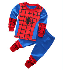 2PCS Toddler Baby Kids Boys sleepwear Outfits Tops +Pants Household clothes set
