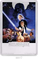 2017 STAR WARS POSTER COIN - RETURN OF THE JEDI - 1 OZ. SILVER COIN  - 3RD COIN